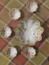 Nippon Antique Hand Painted Scalloped Berry Bowls. Mount Airy, 21771