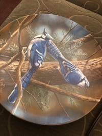 """The Blue Jay"" Collector Plate By Kevin Daniel Limited Edition Plate Ottawa, K1V"