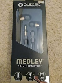 Brand new quikcell medley wired headset Lake Worth, 33463