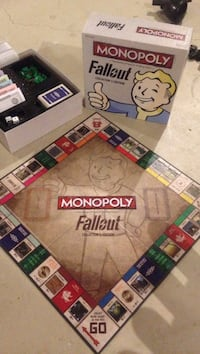 Fallout monopoly collectors edition w. The art of fallout book all great condition Grimsby, L3M 5N5