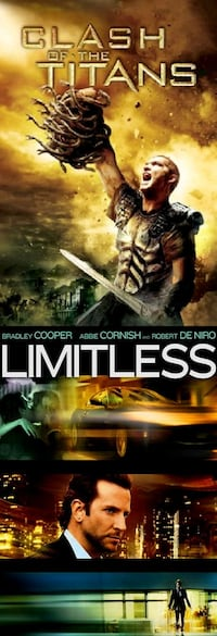 Two DVDs clash of the Titans and limitless dvd Coos Bay, 97420