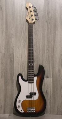 Left handed Bass Guitar brand new 4 string Sunburst Toronto
