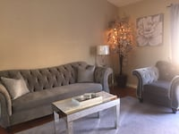 gray fabric sectional sofa with throw pillows Tracy, 95376
