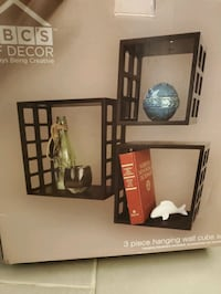 3 piece hanging wall cube set Spring, 77386