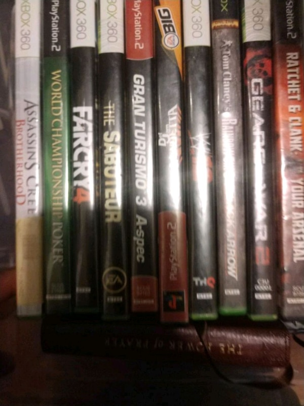 Pre owned assorted xbox 360 games