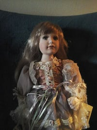 porcelain doll in gray dress Minneapolis, 55428