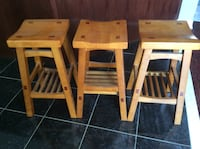 Three Wooden bar stools (One of a kind) price dropped !!!!!! Vaughan, L4H 2A4