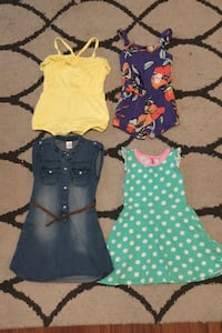 Dresses and rompers size 4t