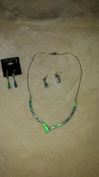 green and blue beaded necklace Chattanooga, 37405