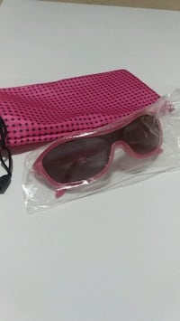 pink framed sunglasses with drawstring bag Milton, L9T 6X5