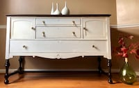 Lightly distressed buffet table