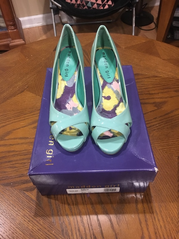 Madden Girl size 5 1/2 worn once briefly (color mint) $20 or b/o