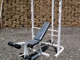 Weider Pro 355 bench and squat rack