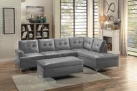 New gray l shape sectional sofa tax included free delivery Hayward