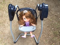 Doll with battery operated swing $5