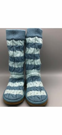 NEW UGG Boots CLASSIC TALL STRIPE CABLE KNIT Women's Size 7 Middletown, 10940