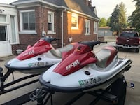 (2) 2002 Kawasaki STS900 JetSkis in good condition.