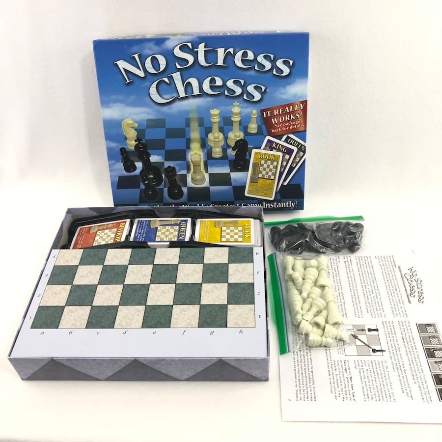 No Stress Chess Family Complete Board Game 8c3beaf7-355c-463e-be2a-432f1e5f65ae