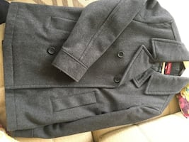Dark grey wool peacoat, Merina, excellent condition. Mens Medium. Smoke and pet free home