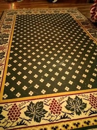 brown and white floral area rug Brandon, 39042