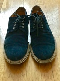 A blue suede mens shoes Oslo, 0262