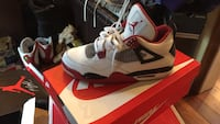 white-and-black Air Jordan 4 shoes Temple Hills, 20748