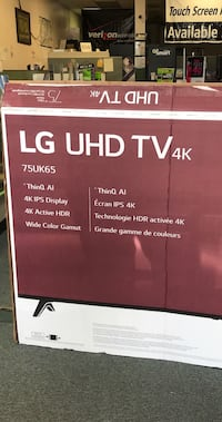 "LG 4K UHD 75"" TV 75UK65 MSRP $1699 Arlington, 76015"