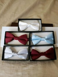 three assorted color of bow ties Victorville, 92392