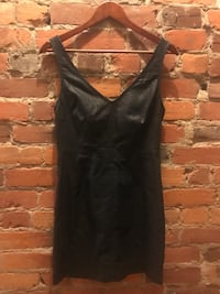 Black spaghetti strap mini dress. Brand: Silence and Noise  Size 6.  Toronto, M6G 2M4