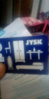 Jysk gift card with 65 on it