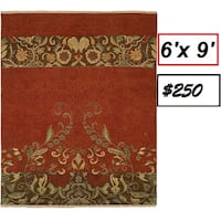 brown and green floral area rug Mississauga