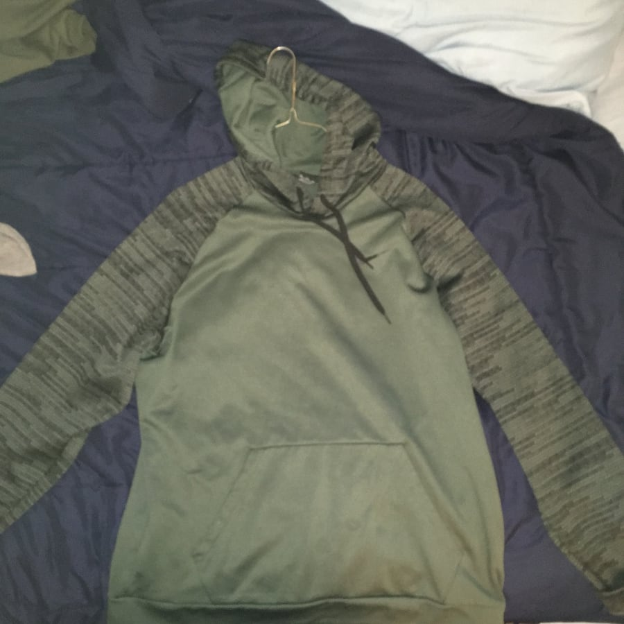 JCPenny Army Green Nike Pullover Hoodie