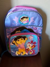 New Dora backpack with lunchbag.