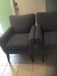 brown and gray fabric sofa chair Rockville, 20852
