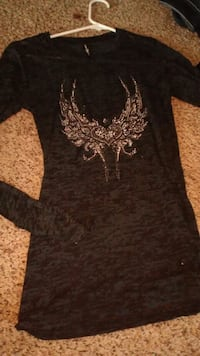 Sz small cute sheer shirt with wings  Pueblo, 81003