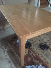 Brown wooden kids dining table