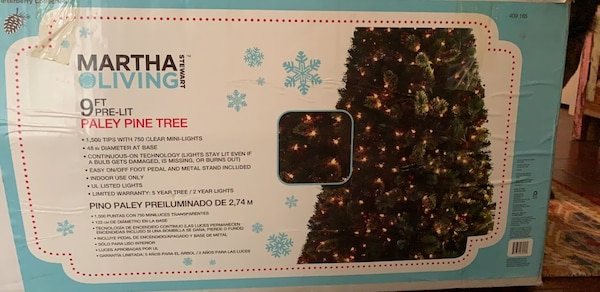 Christmas In July 9ft Martha Stewart Pre Lit Paley Pine Tree