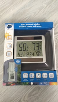 Black solar powered wireless weather station and sensor box Stevens
