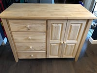 Real wood kitchen island