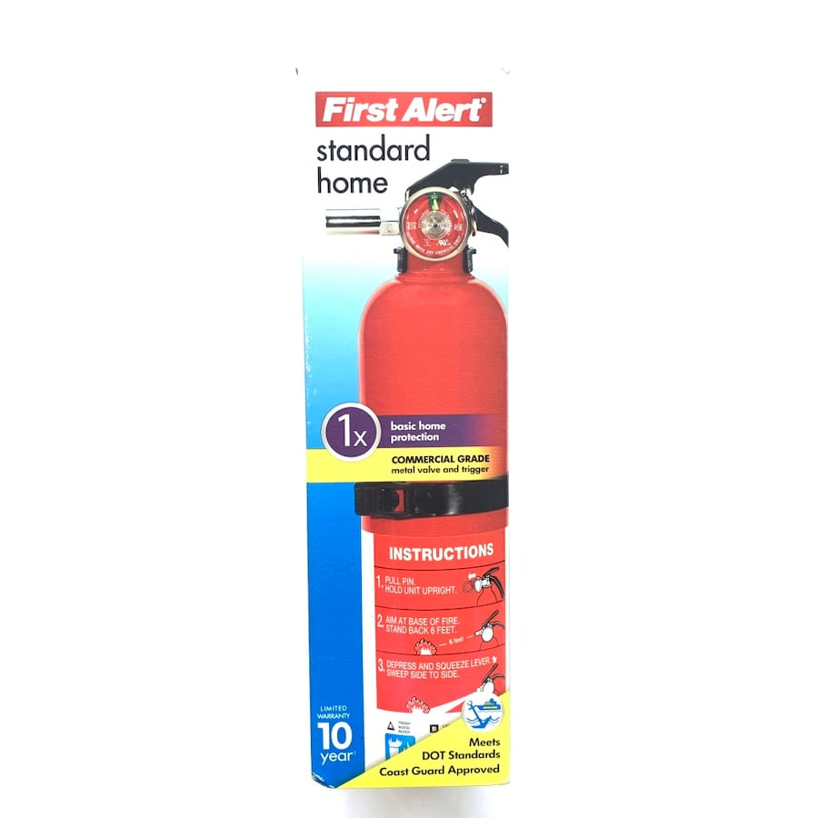 First Alert Rechargable Standard Home Fire Extinguisher Red Commercial