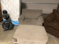 brown fabric sofa chair with ottoman Kettering, 45409