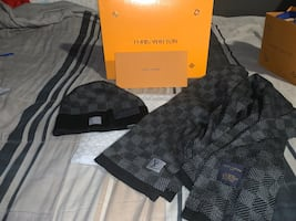 Louis Vuitton petit Damier scarf and hat collection