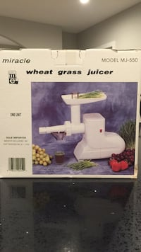 Electric Wheatgrass juicer in good condition...Amazon price $197.50 Oakton, 22124