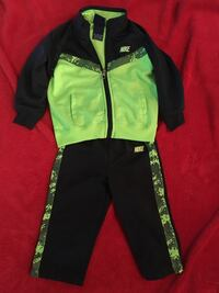 18 month NIKE Green and navy zip-up jacket and pants 374 mi