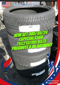 gray vehicle wheel with tire set Los Angeles, 90033