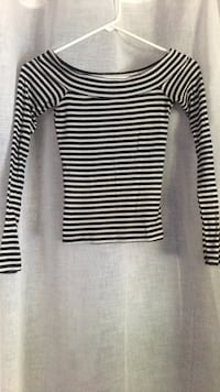 Black and white striped long-sleeved shirt Del Valle, 78617