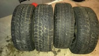 four vehicle tires 554 km