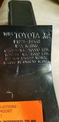 Genuine Toyota towing hitch Kitchener, N2E 2C8
