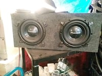 black and gray subwoofer speaker Calgary, T2A