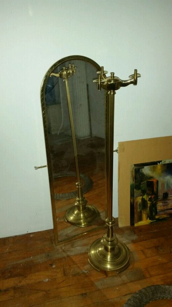 Vintage Brass Mirror (not the stand)